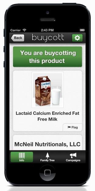 Een product waarvan je thuis of in de winkel hebt besloten op de lijst te zetten van 'product-non-grata'..