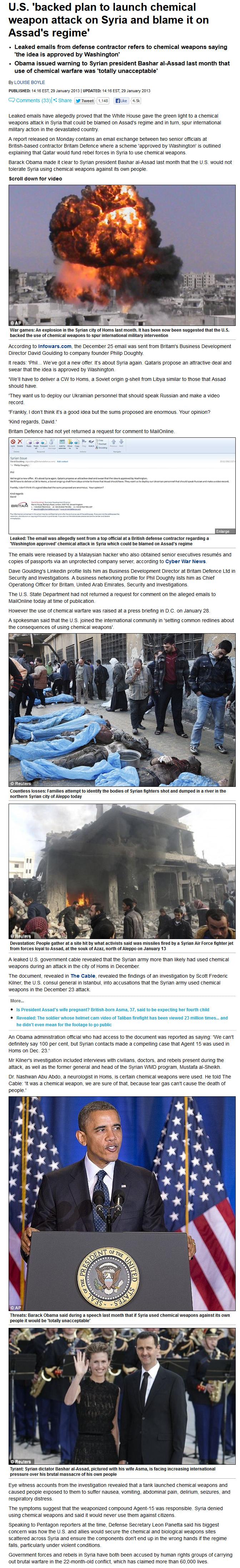 chemische wapens syrie US akkoord