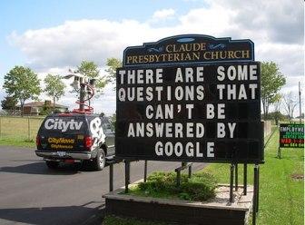 En die vragen betreffen ook de vragen over Google zélf.