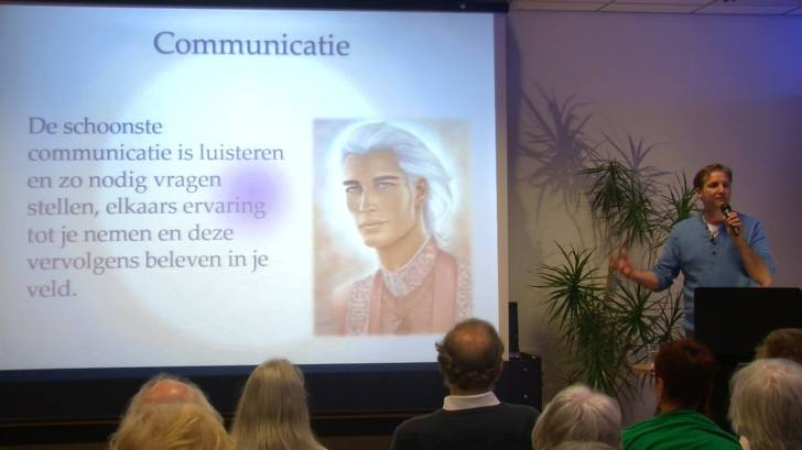 Martijn van Staveren tijdens zijn eerste presentatieserie (klik voor de site van Martijn)