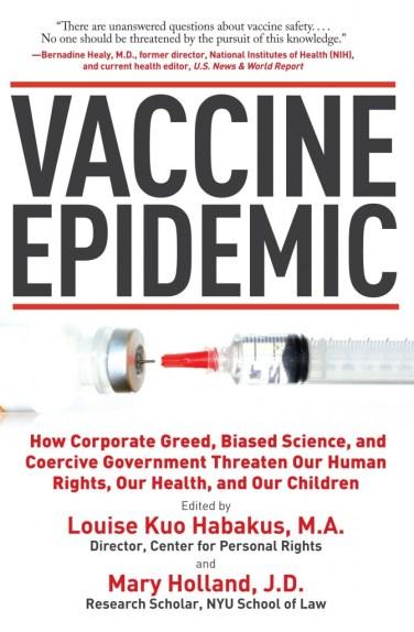 De cover van een van de vele, vele boeken, die uitgebreid ingaan op de vaccinatie-epidemie, waartegen geen vaccin gewassen is.