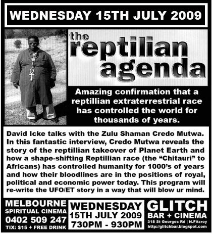 David Icke werd gebeld door Credo Mutwa, sjamaan, om het verhaal te bevestigen van de 'reptilian agenda'.