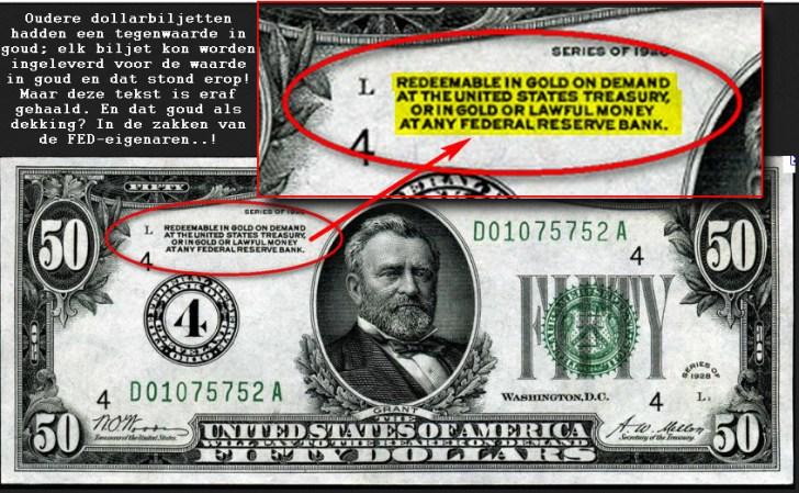 De leeggeroofde dollar in beeld.. Geen tegenwaarde meer in goud, noch enige andere waarde.. Dollars zijn pokerbiljetten, van mensen die 'er nog in geloven'..
