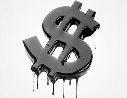 dollar oil besmeurd