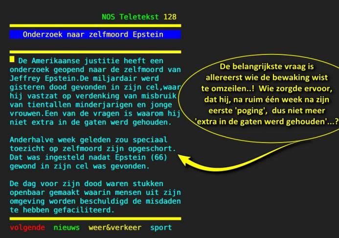 Goede We dienen te geloven dat Epstein dood is…!! – WantToKnow.nl WS-49