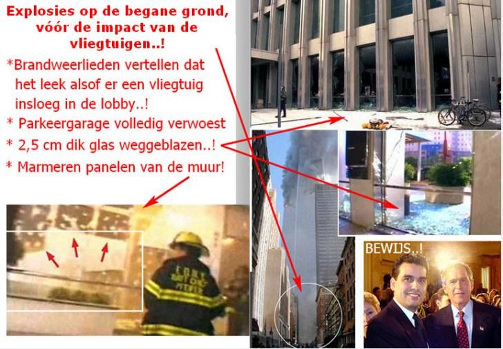 explosies begane grond WTC 911