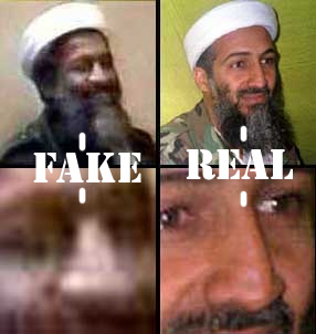 The CIA produced a tape, supposedly of Bin Laden admitting his involvement in the 9/11 terrorist attacks. However, he writes with the wrong hand (his right hand) in the tape, while the FBI and CIA say he is left-handed. He also does not resemble the known Bin Laden.