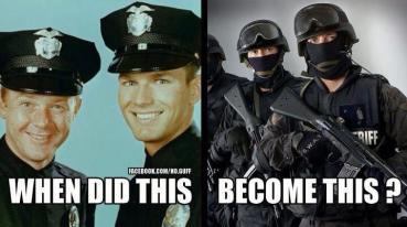 from cops to soldiers