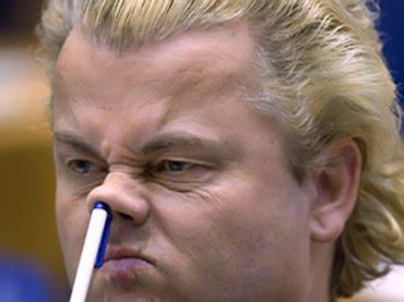 geert-wilders potlood neus