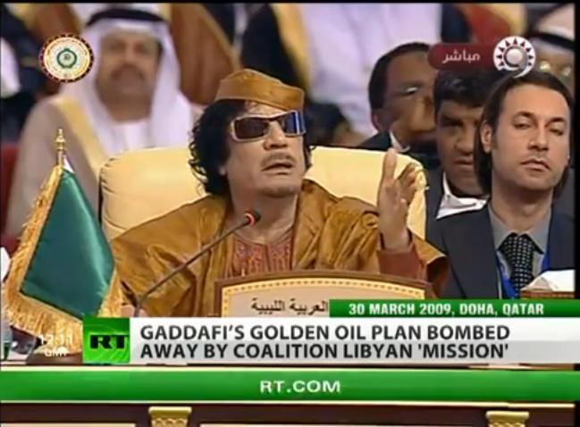 ghadaffi gold plan