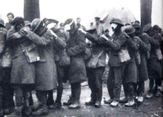 Slachtoffers van chloorgas in de 1e wereldoorlog