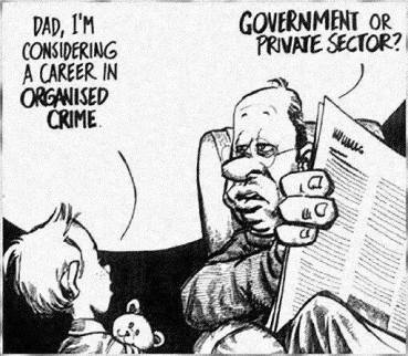 government or private organised crime