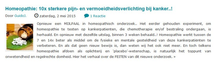 homeopathie kanker wanttoknow
