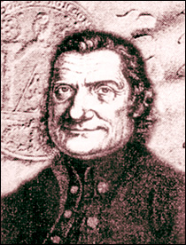 Jacob Lanz, zoals hij in de 18e eeuw werd getekend; hij was één van de grote leiders achter de Beierse Illuminati. (Klik op het plaatje voor website)
