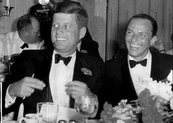 John F. Kennedy en Frank Sinatra