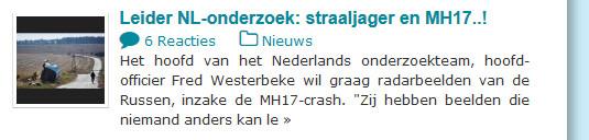 leider MH17 straaljager en russen consulteren