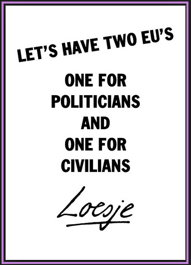 loesje EU civilians politicians