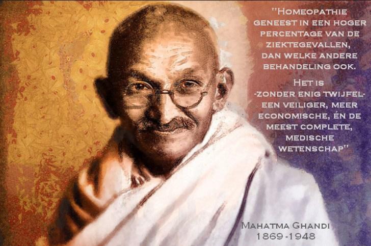 mahatma ghandi homeopathie