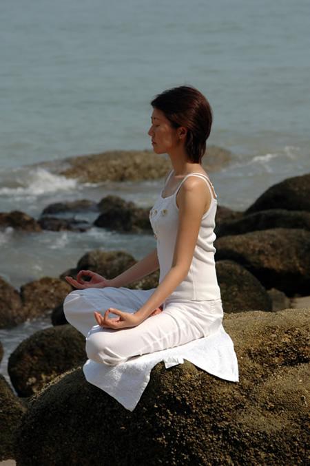 meditatie rots