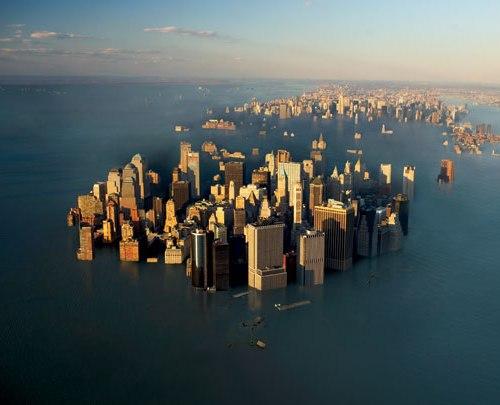 New York onder water, een toekomstbeeld dat we nu met photoshop realiseren..?
