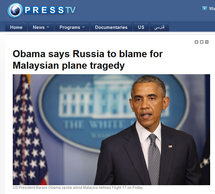 obama MH17 russia to blame