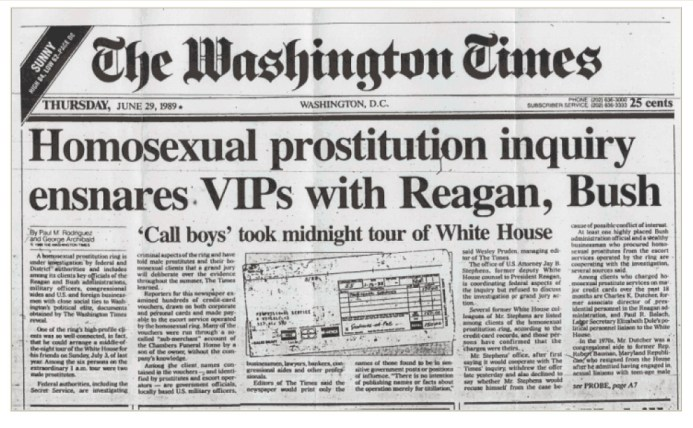 pedofilie bush reagan washington post