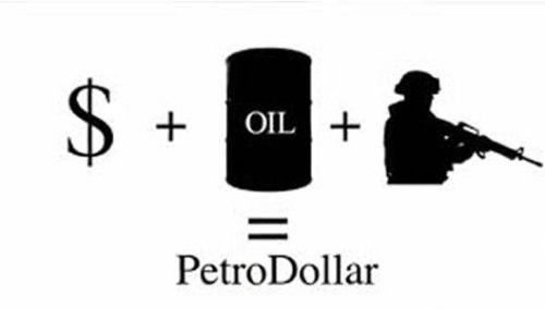 Het leegplunderen van de US-dollar door de KM, heeft kunnen gebeuren, doordat de HELE WERELD olie MOEST verhandelen in US-dollars.. Vind je het gek dat Khadaffi, die hier een einde aan wilde maken, een kopje kleiner gemaakt moest worden van de KM?