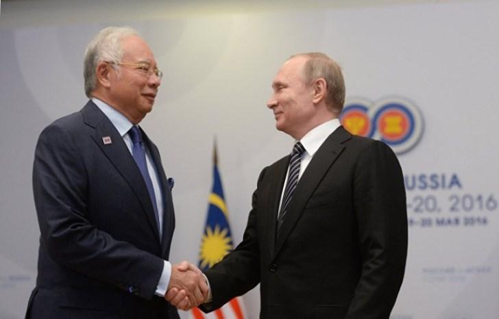 poetiin maleisie MH17 president