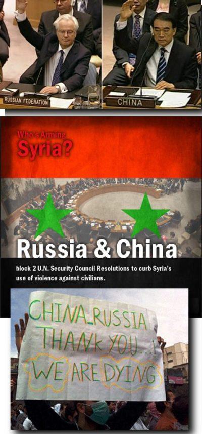 rusland china syrie