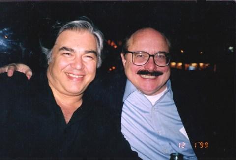 Aaron Russo en Nick Rockefeller in 1999.