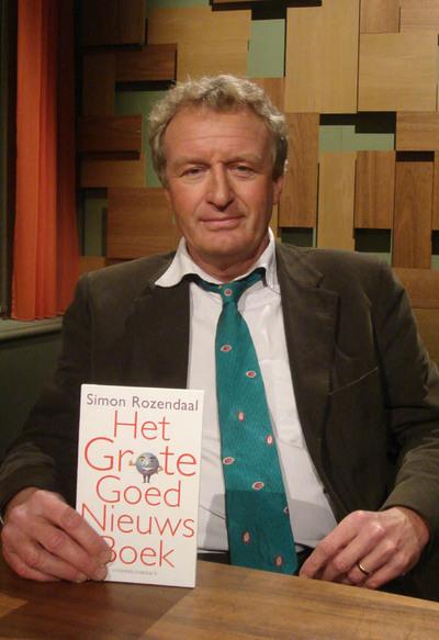 'Wetenschapsjournalist' Simon Roozendaal. Alleen maar 'goed nieuws' te koop bij deze man? Schone schijn bedriegt echter stevig, zo blijkt uit zijn optreden.