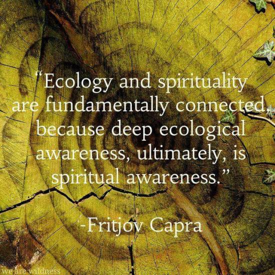 spiritual ecological awareness Fritjov Capra
