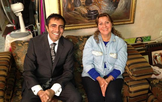 Sundus Saleh en haar advocaat