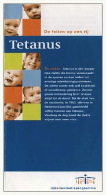 De Tetanus-folder van het RIVM, uitgedeeld in het kader van het Rijksvaccinatieprogramma. Bewuste leugens of 'amateuristisch gekneuter'..?