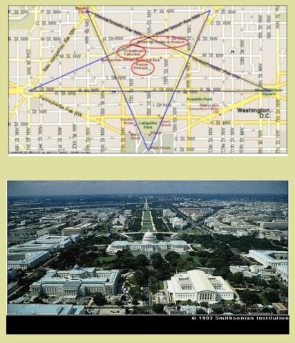 Het stratenplan van Washingtong, de hoofdstad van de VS, dateert uit de tijd van de stichting van de VS.
