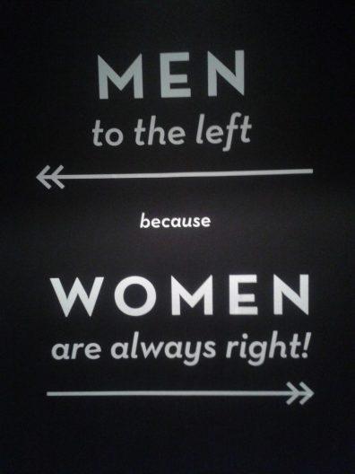 women men toilet