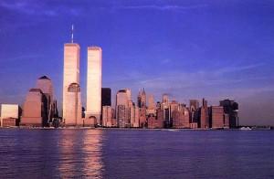 De skyline van New York vóór 9/11