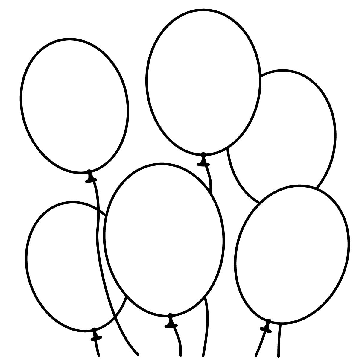 Coloriage Ballon D Anniversaire A Imprimer Et Colorier
