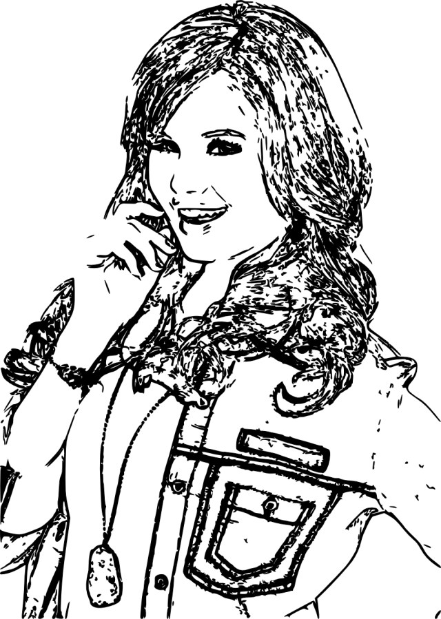 Coloring pages disney channel jessie