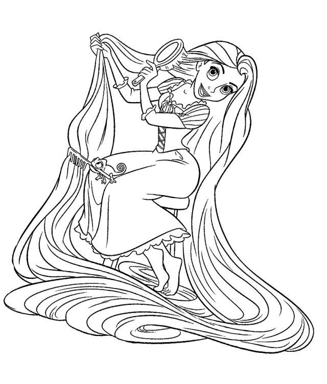 Coloriage Princesse Raiponce Disney à imprimer et colorier