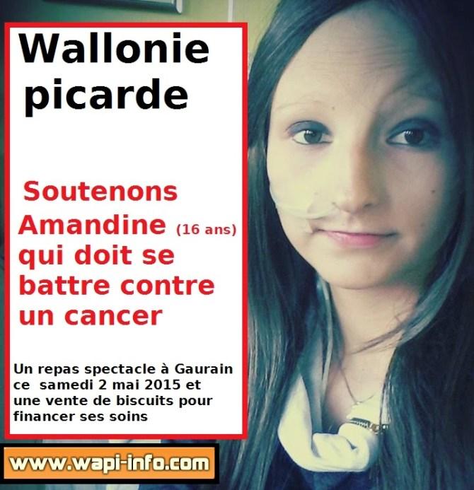 Amandine est hospitalisée