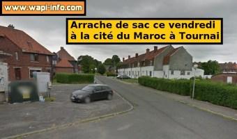 Tournai : arrachage de sac à la cité du Maroc