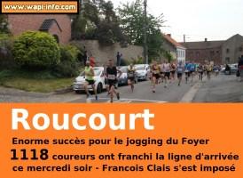 Roucourt : 1.118 coureurs ce mercredi soir - énorme succès pour le jogging du foyer