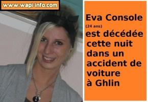 Sirault - Ath : Eva Console (24 ans) décédée dans un accident de voiture à Ghlin