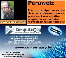 Péruwelz : Frédéric Potiez lance Computeasy pour dépanner vos soucis informatiques