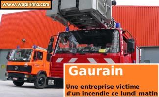 Gaurain : incendie dans une société de tarmacadam