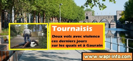 Tournaisis : deux vols avec violence en rue ces derniers jours