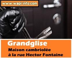 Grandglise : maison cambriolée à la rue Hector Fontaine