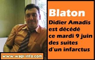 Blaton : Didier Amadis est décédé à la suite d'un infarctus