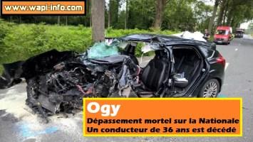 Ogy : dépassement mortel sur la Nationale - un conducteur de 36 ans est décédé